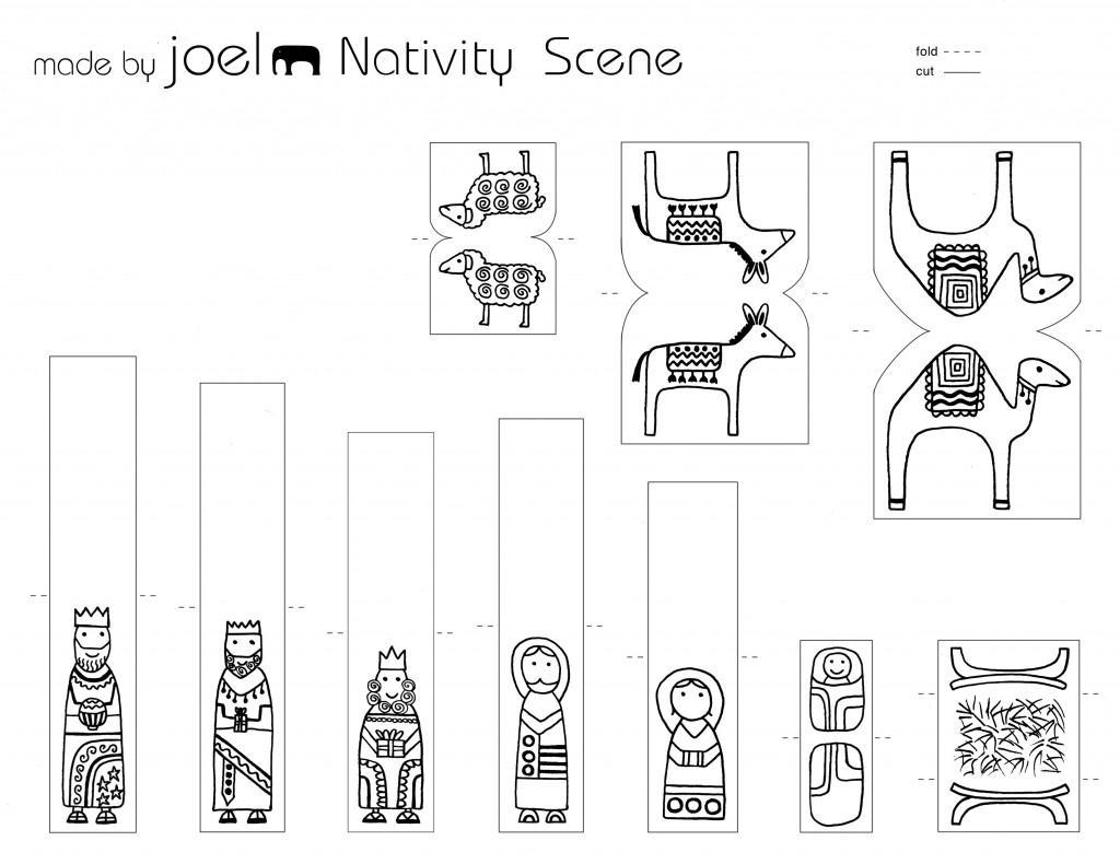 Christmas Nativity Scene Templates