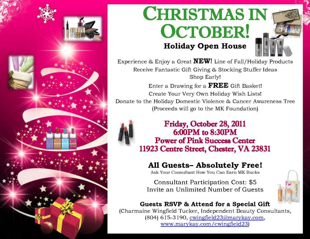 Christmas Open House Invitation Template Free