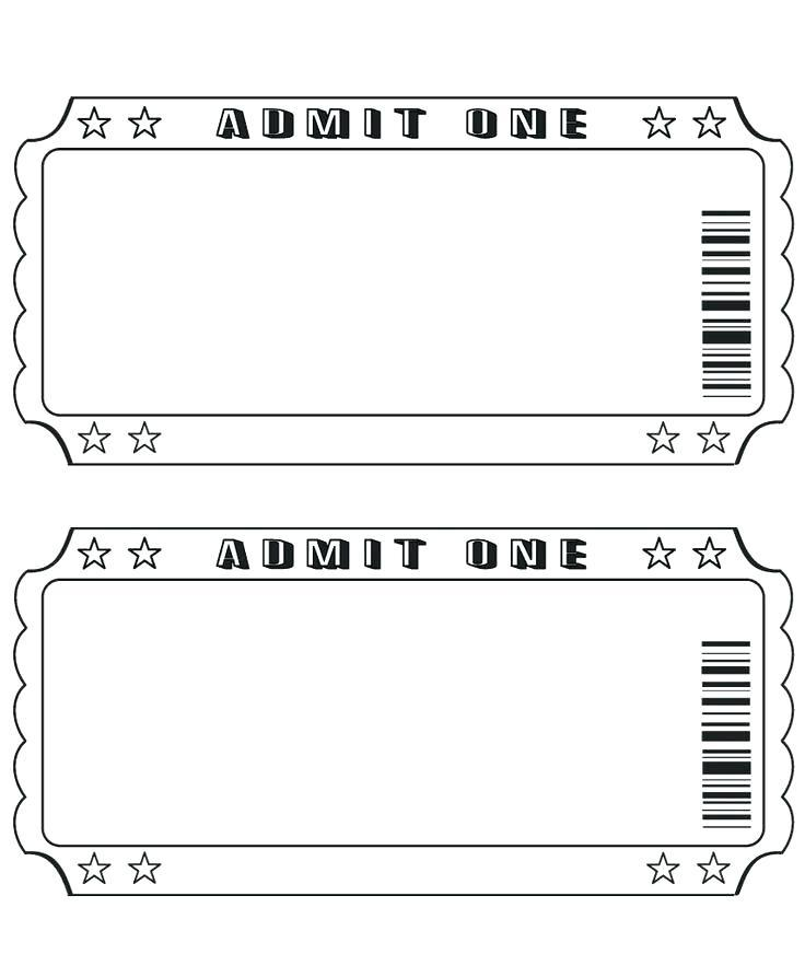 Christmas Play Ticket Template