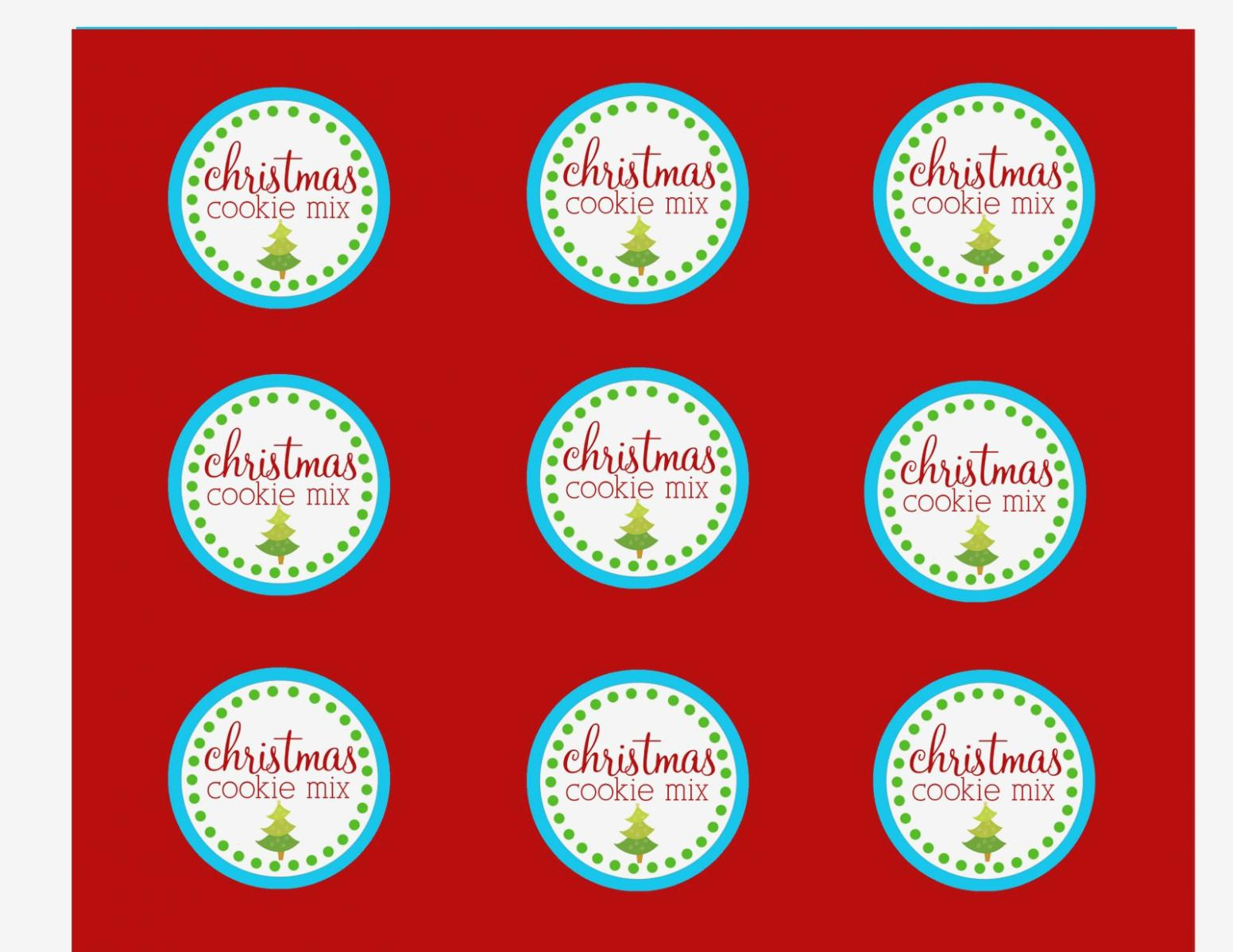 Christmas Sticker Label Template