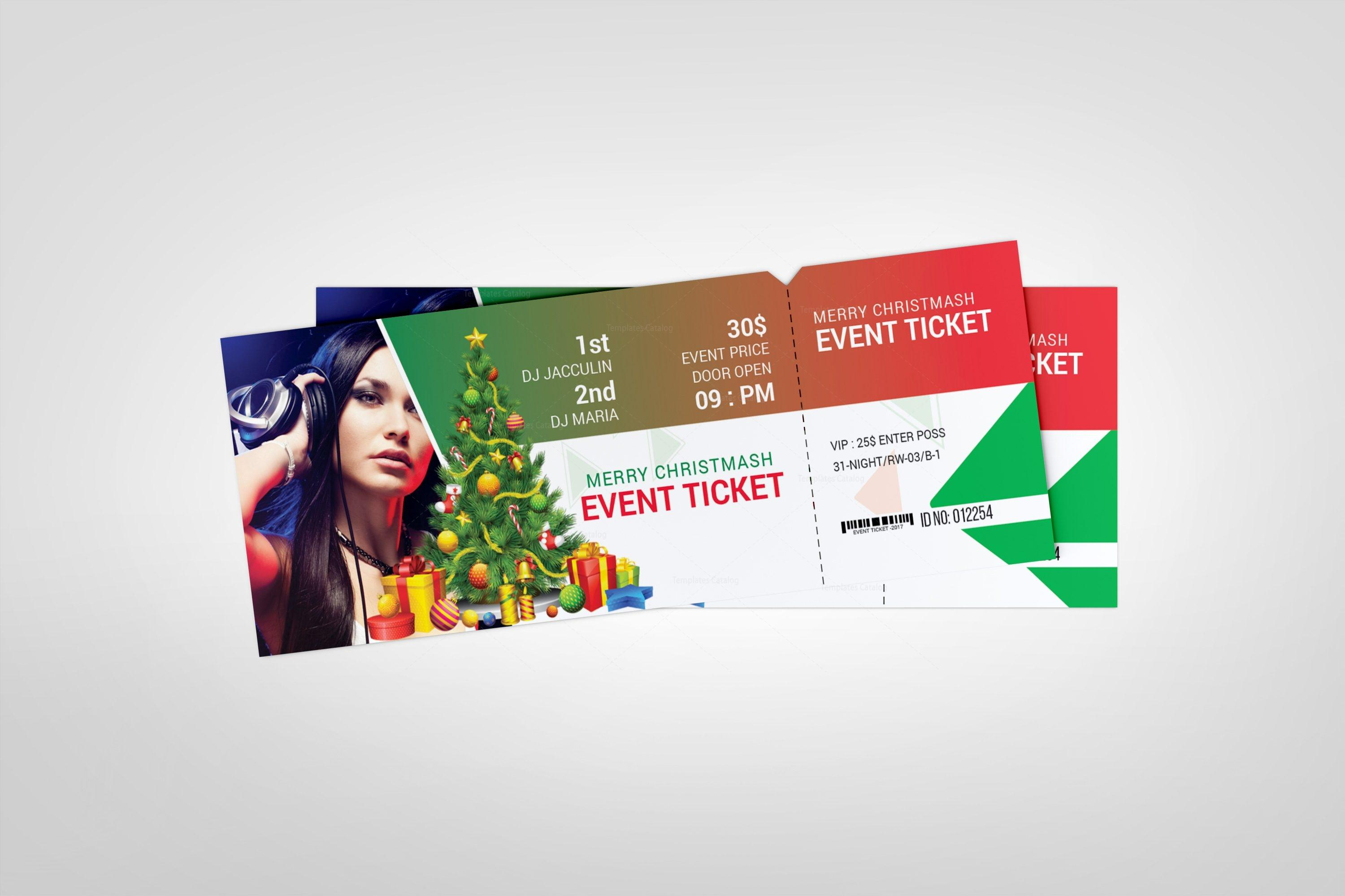 Christmas Ticket Design Template