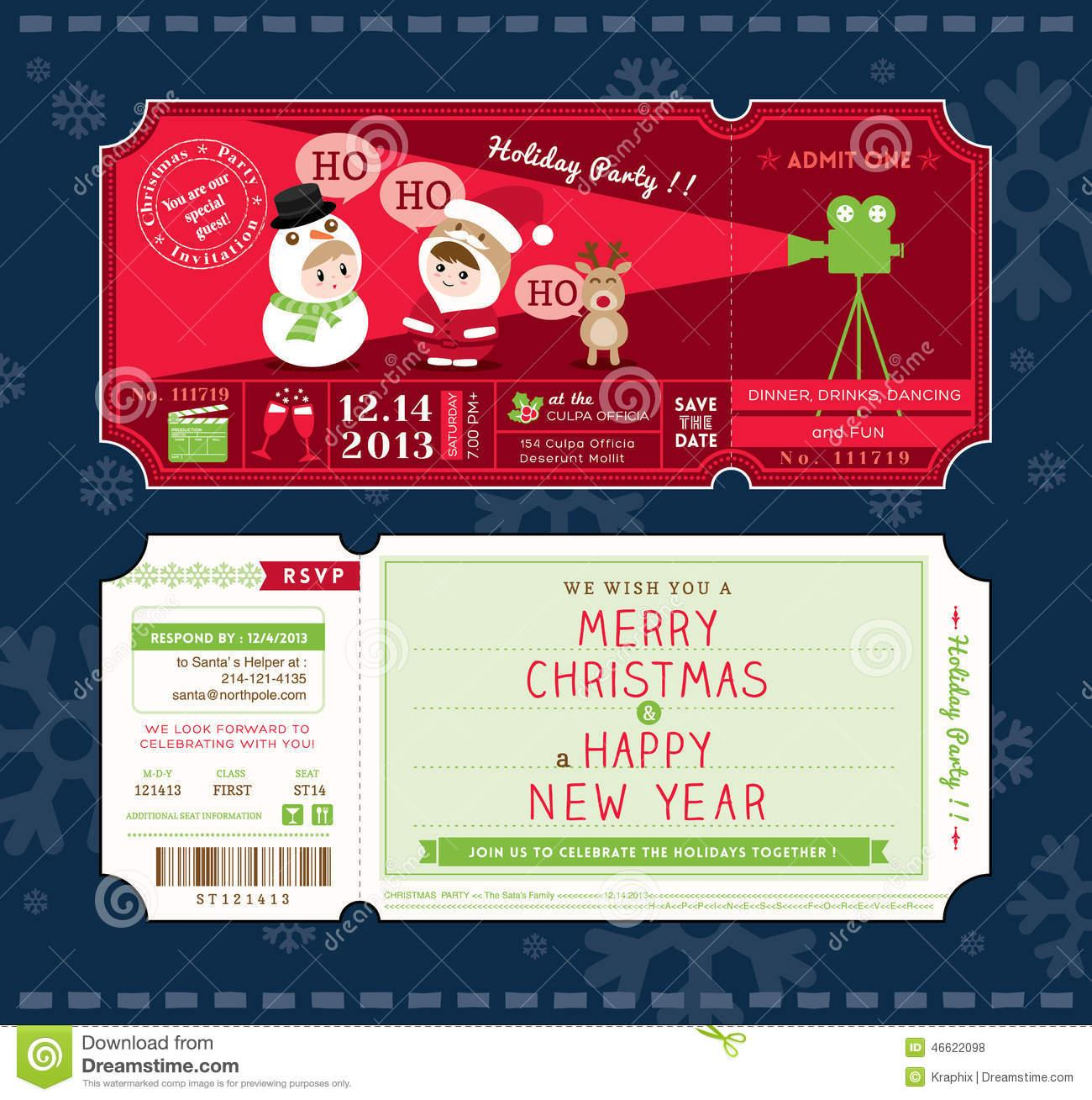 Christmas Ticket Templates