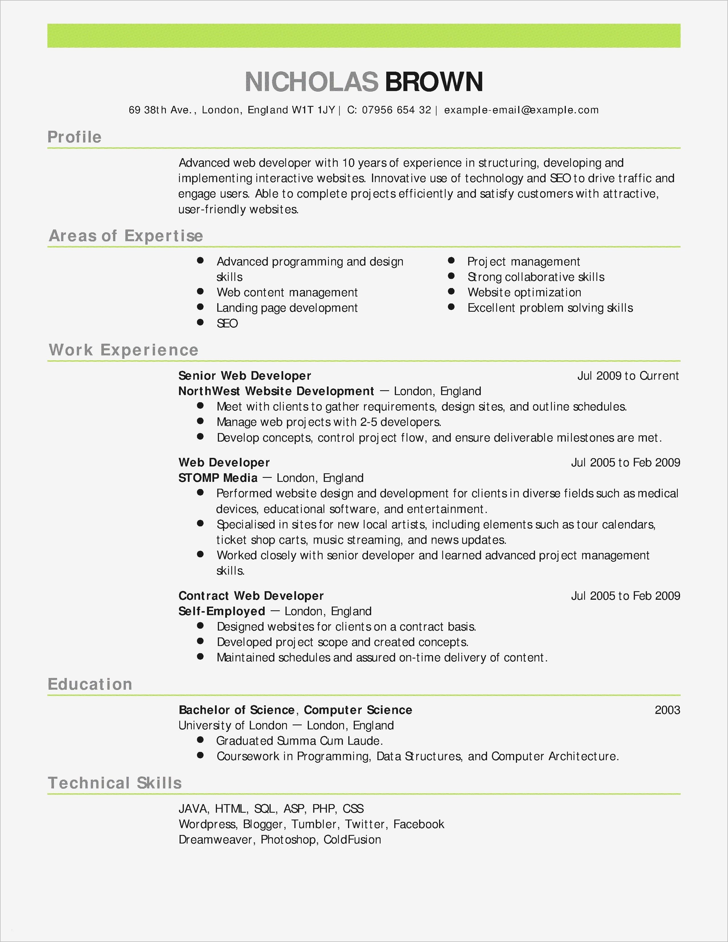 Chronological Resume Template Pdf
