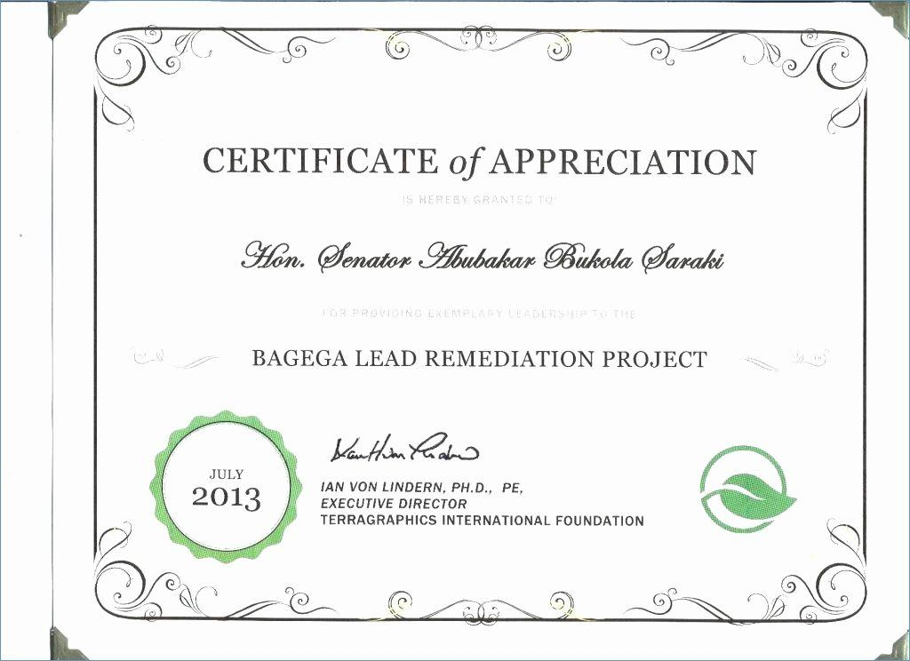 Church Appreciation Certificate Templates