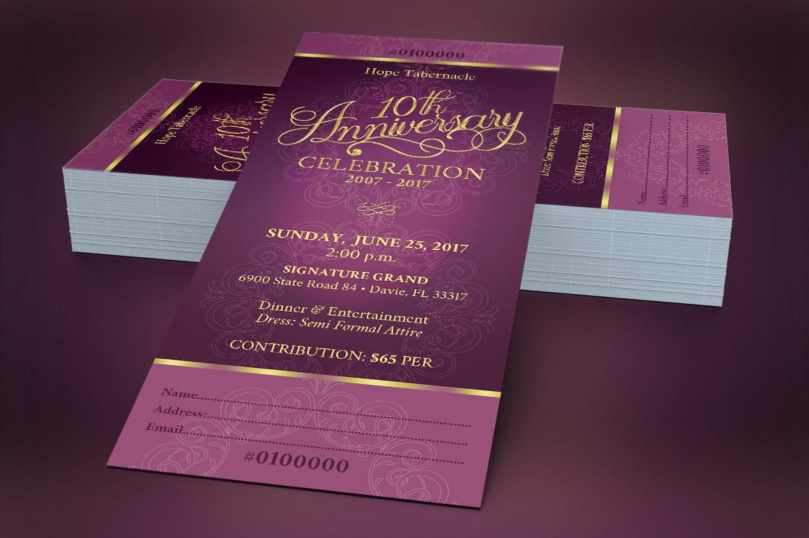 Church Banquet Ticket Template