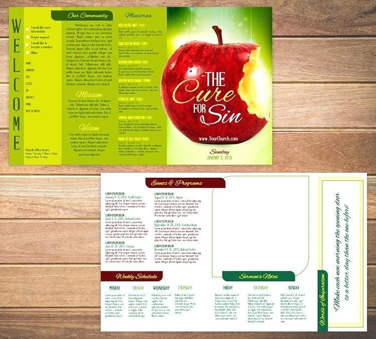 Church Bulletin Templates For Publisher