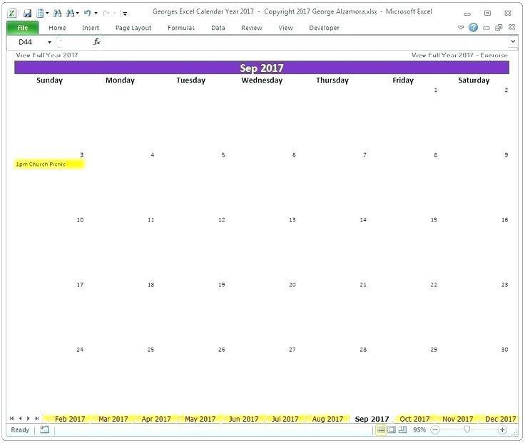 Church Calendar Format