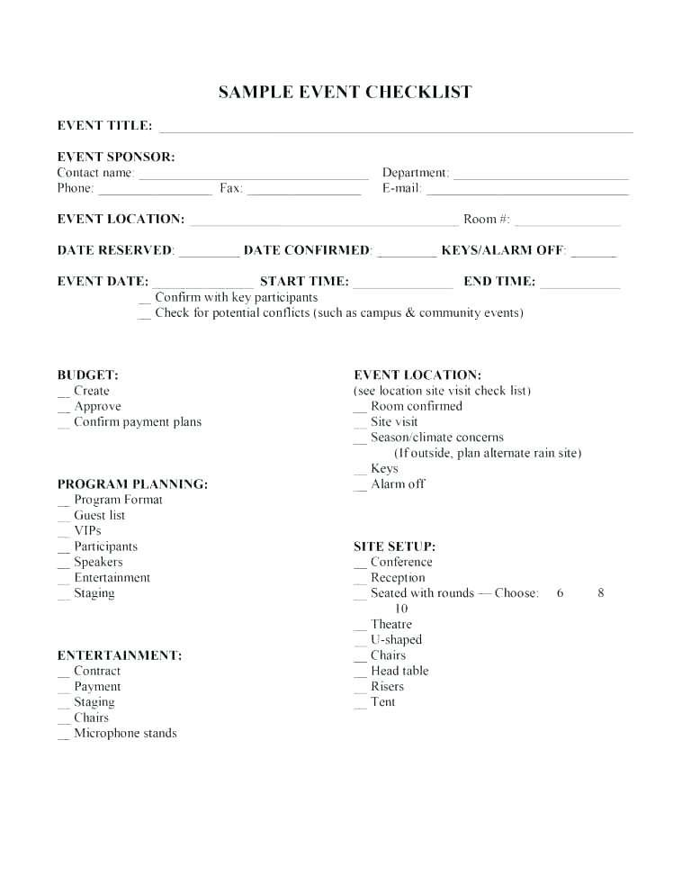 Church Conference Budget Template
