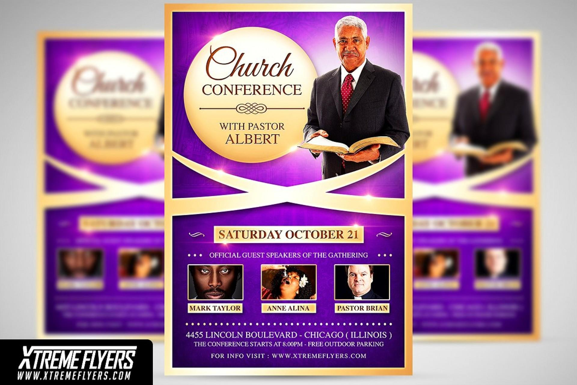 Church Conference Flyer Template Free