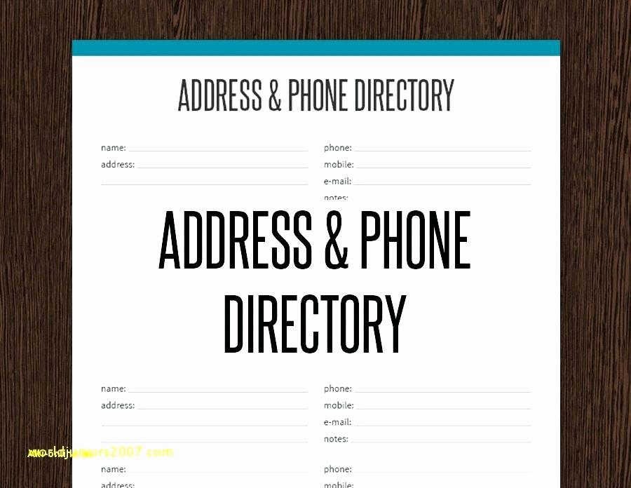 Church Directory Booklet Template