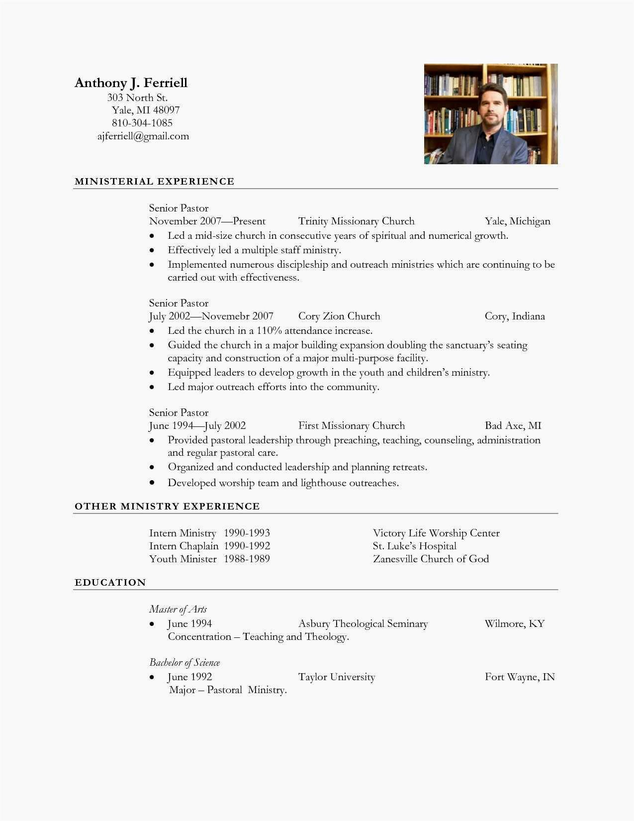 Church Directory Information Template