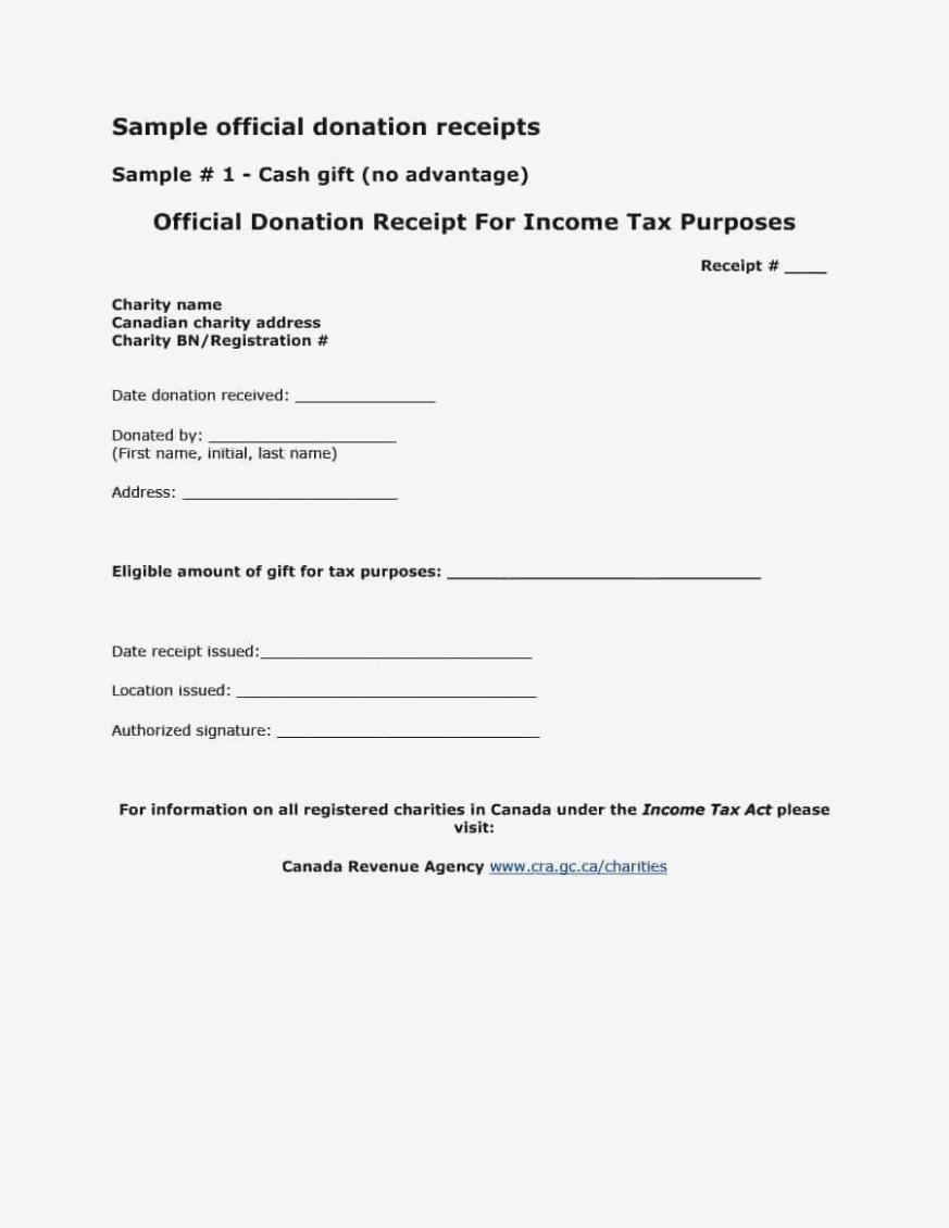 Church Donation Receipt Letter Template
