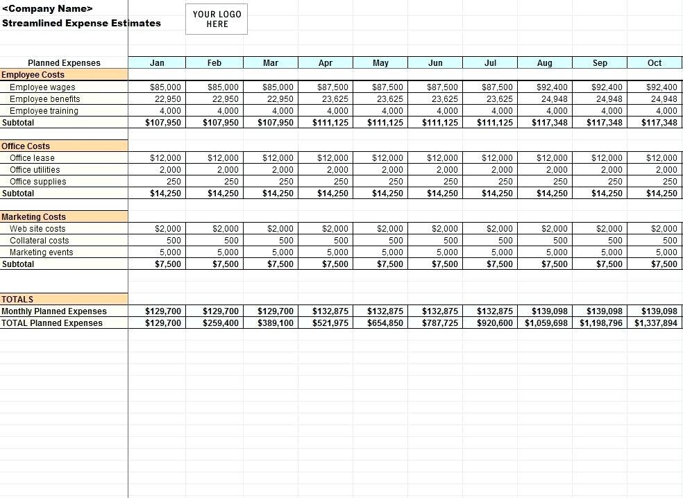 Church Expenses Template