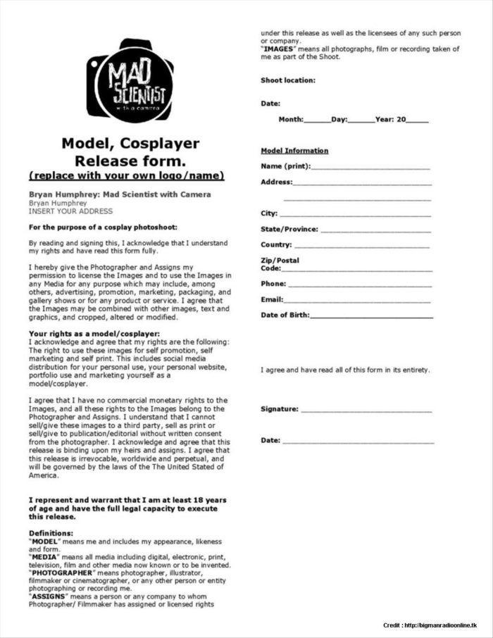 Church Liability Release Form Template