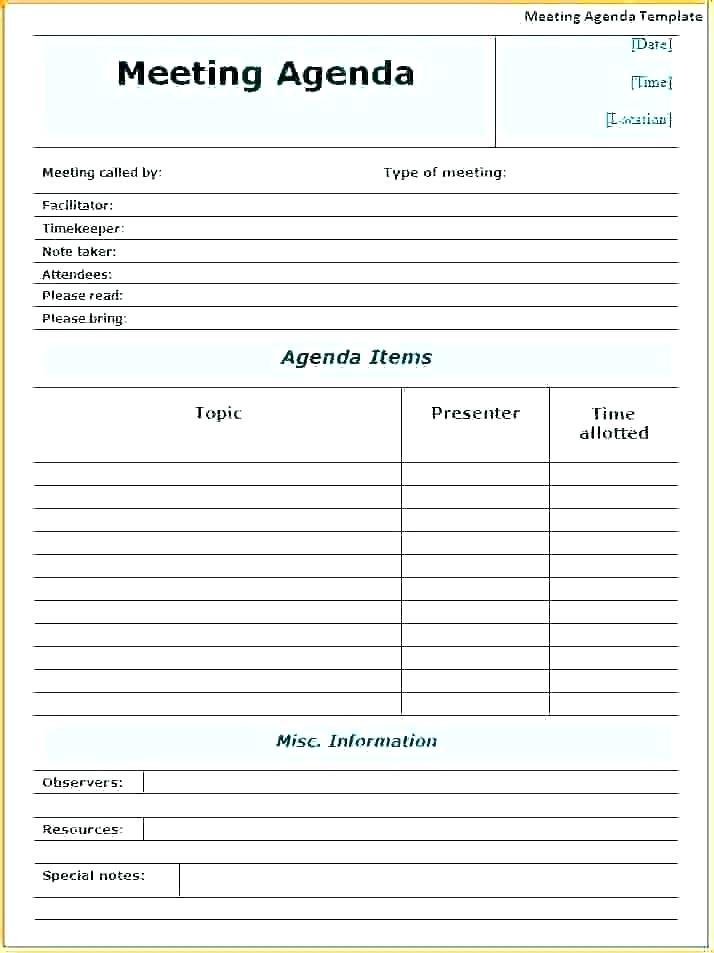 Church Meeting Minutes Template Download