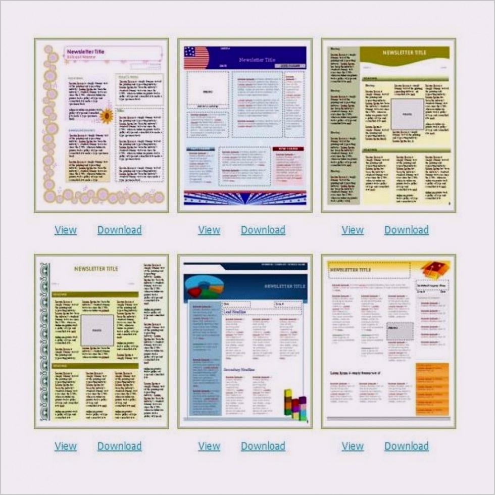 Church Newsletter Templates Free Download