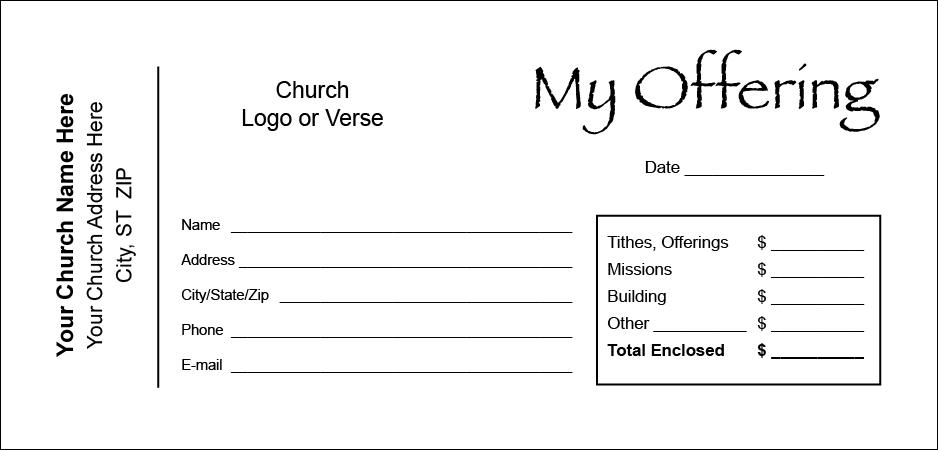 Church Offering Envelope Templates