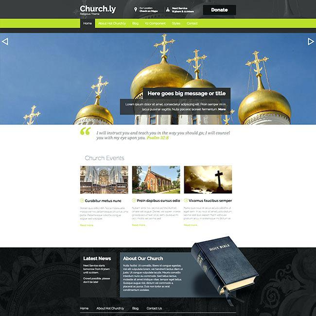 Church Website Joomla Templates
