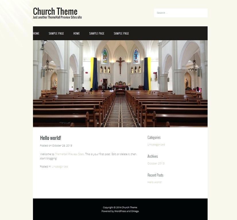 Church Website Templates Wix