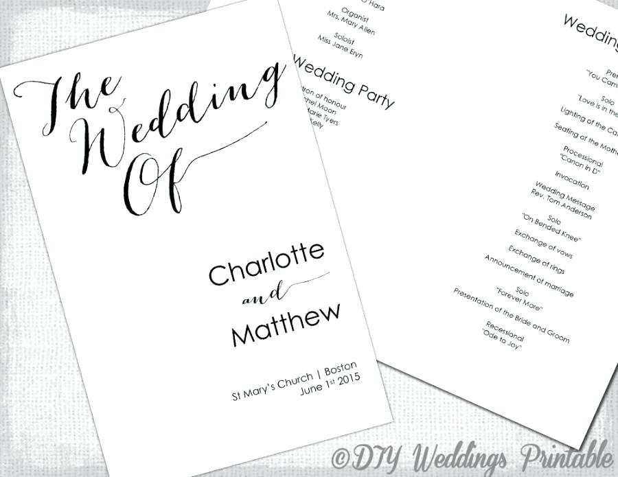 Church Wedding Booklet Cover Template
