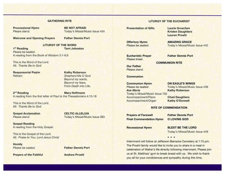 Church Wedding Booklet Template