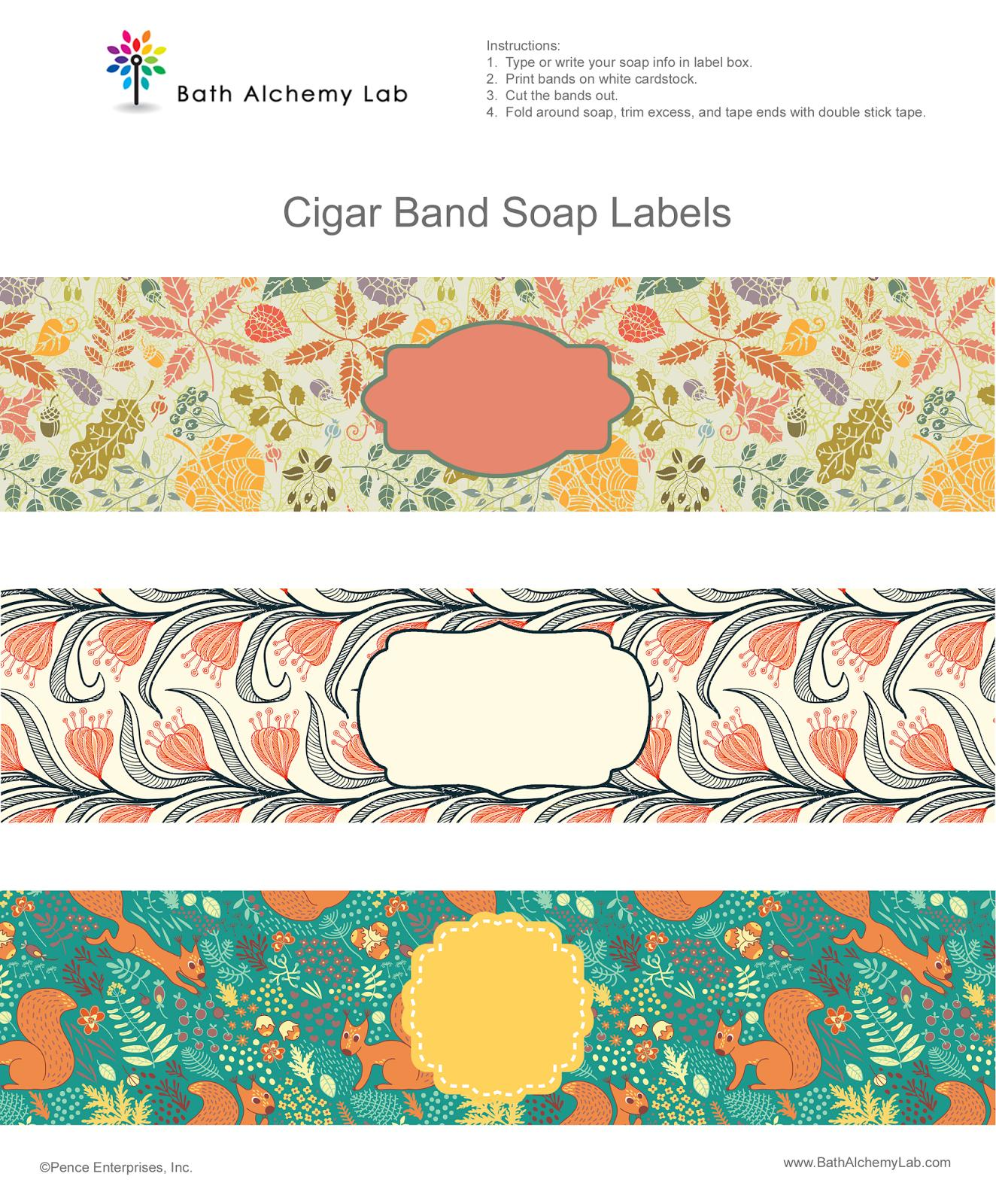 Cigar Band Soap Labels Template