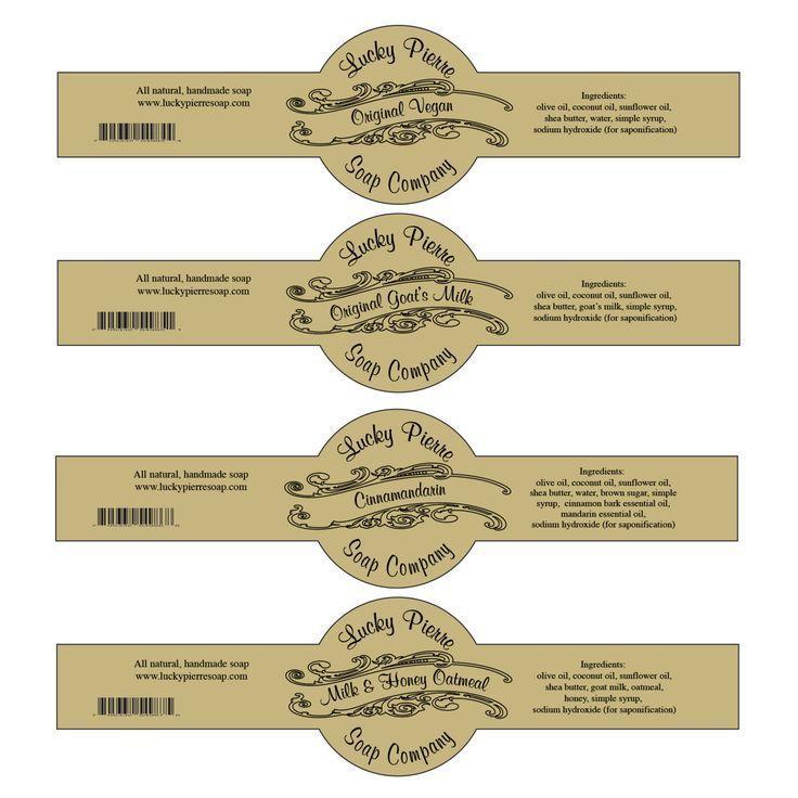 Cigar Labels Soap Template