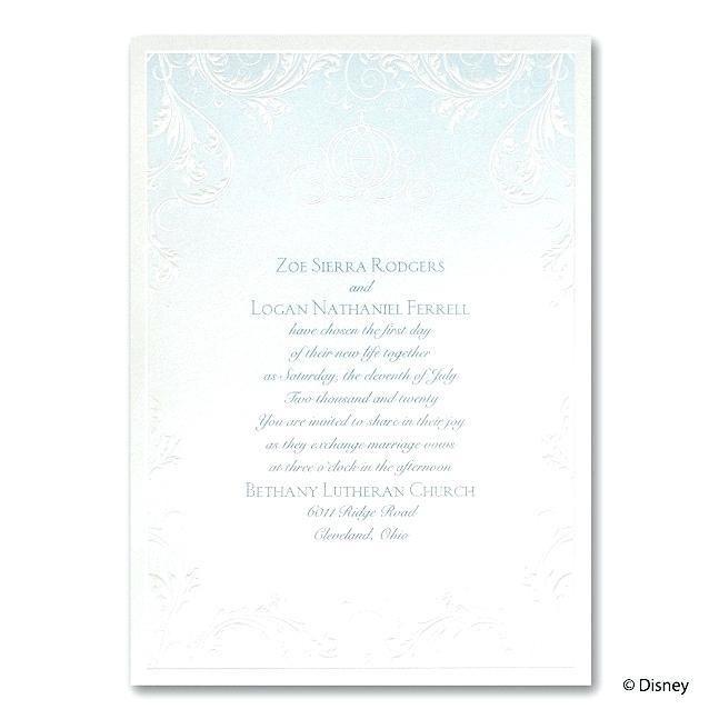 Cinderella Bridal Shower Invitation Template
