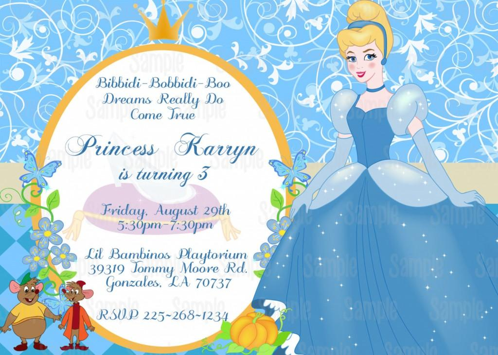 Cinderella Party Invitation Template