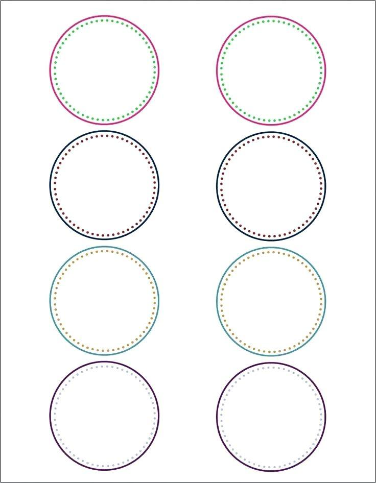 Circle Label Template 0.75