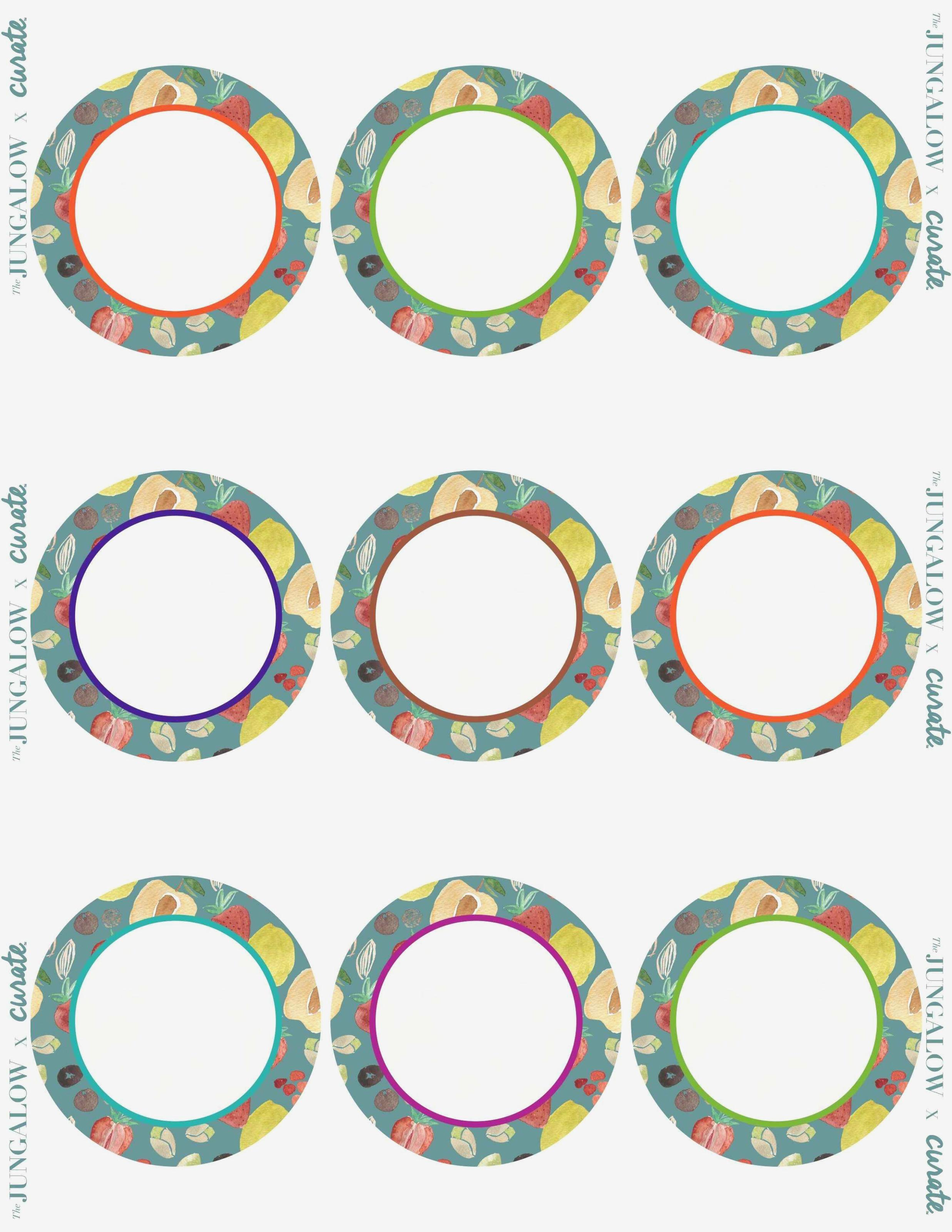 Circle Labels Template Free
