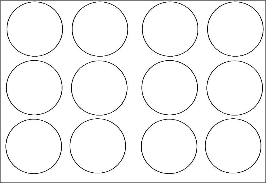 Circle Labels Template