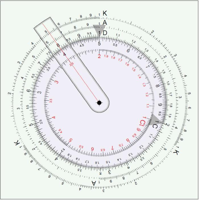Circular Slide Rule Template
