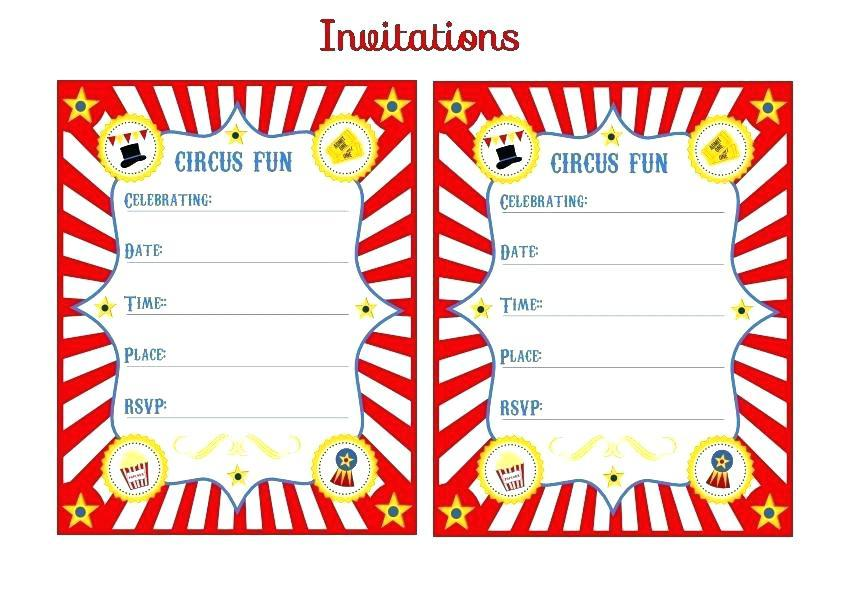 Circus Ticket Invitation Template