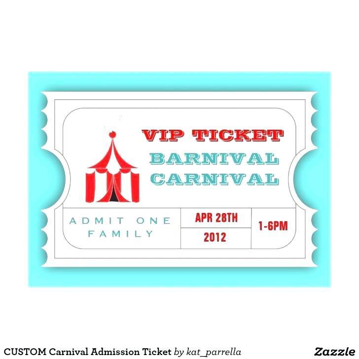 Circus Ticket Stub Template