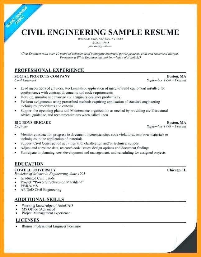 Civil Engineer Resume Template