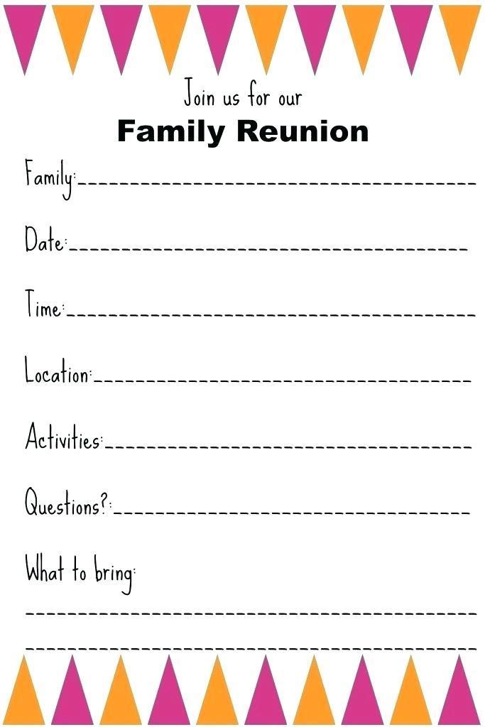 Class Reunion Invitation Card Template