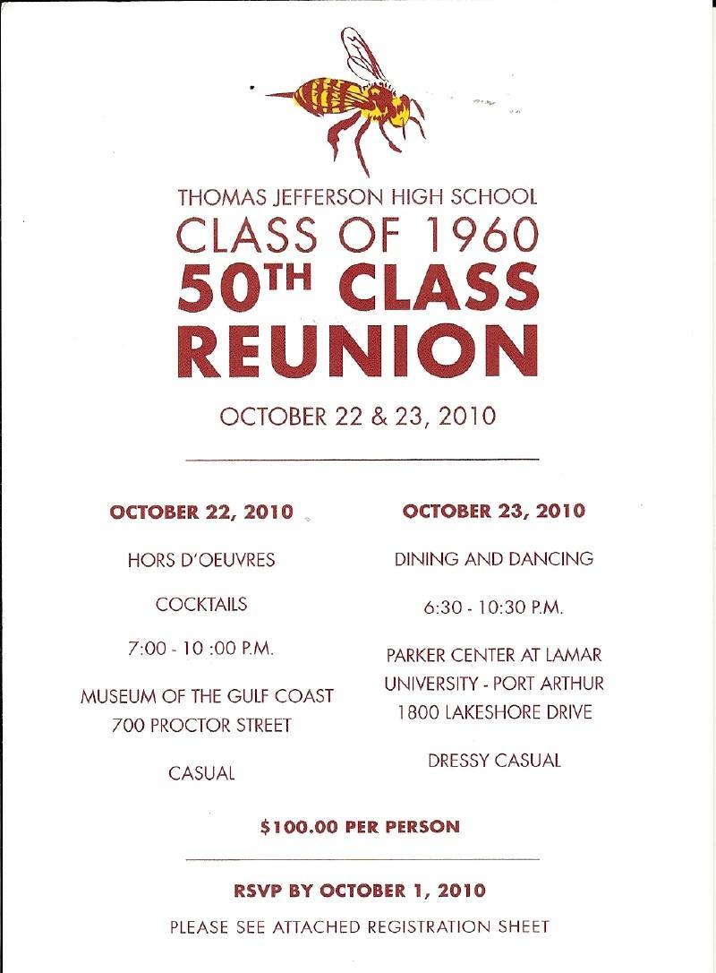 Class Reunion Invitation Flyer Template