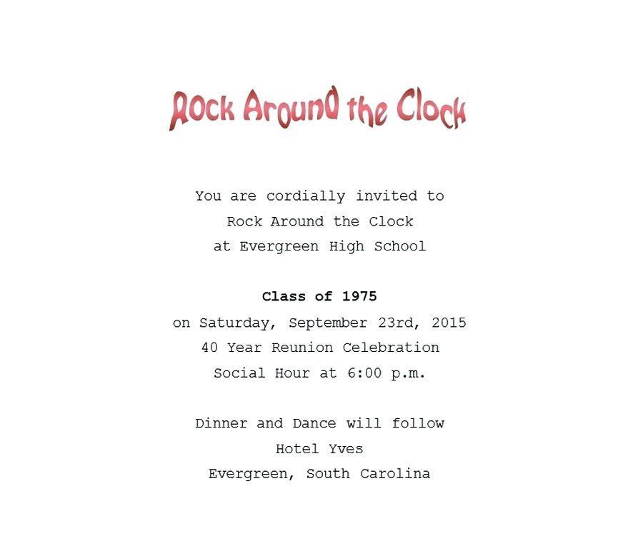 Class Reunion Invitation Samples