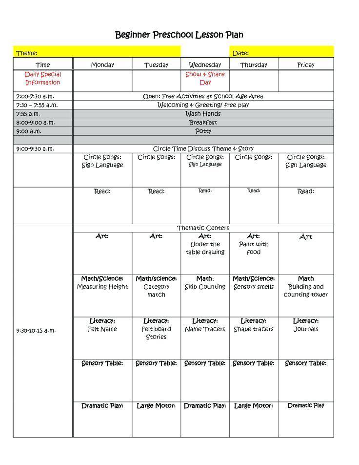Class Rotation Schedule Template