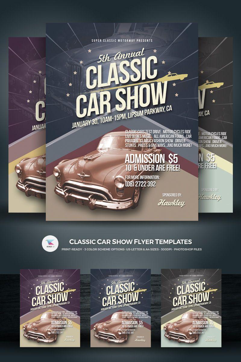 Classic Car Show Flyer Templates