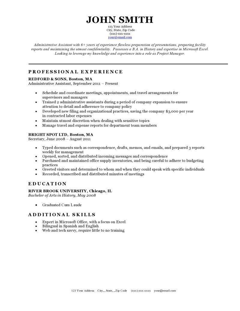 Classic Resume Templates Word