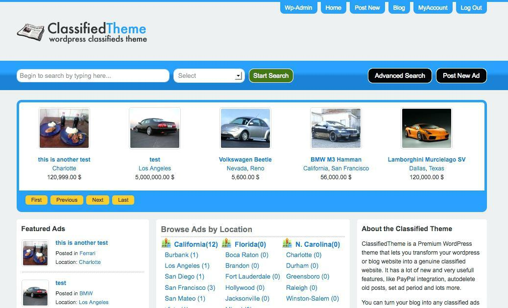 Classified Ads Template Free Download