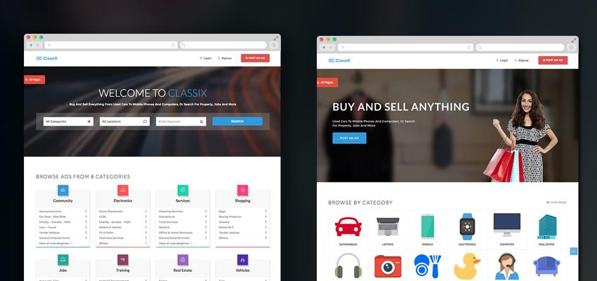 Classified Ads Website Template Free