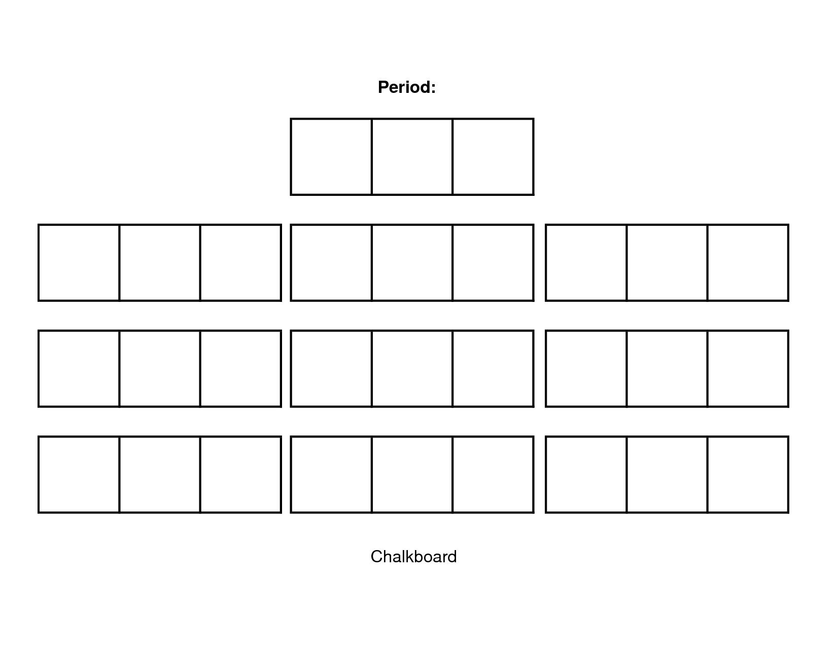 Classroom Seating Chart Template Free Download