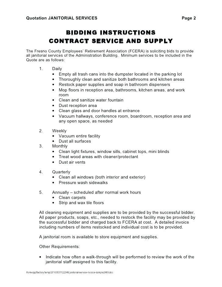 Cleaning Contract Quote Template