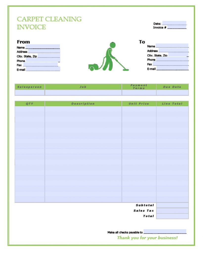 Cleaning Estimate Template Word