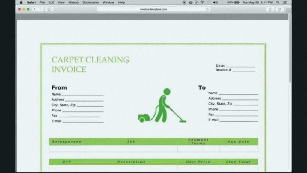 Cleaning Invoice Template Download