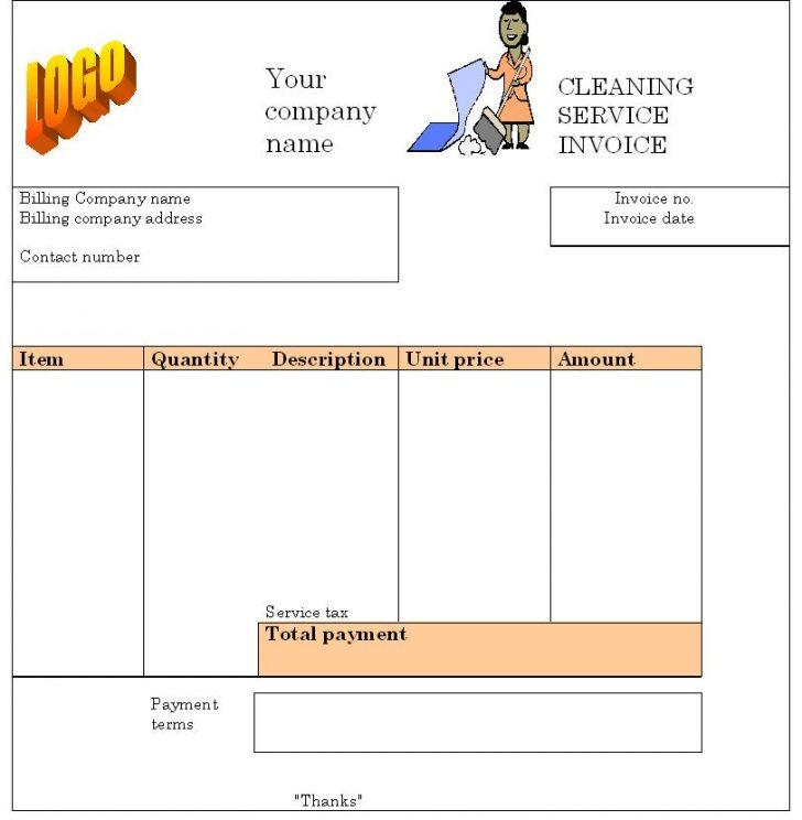 Cleaning Invoice Template Pdf