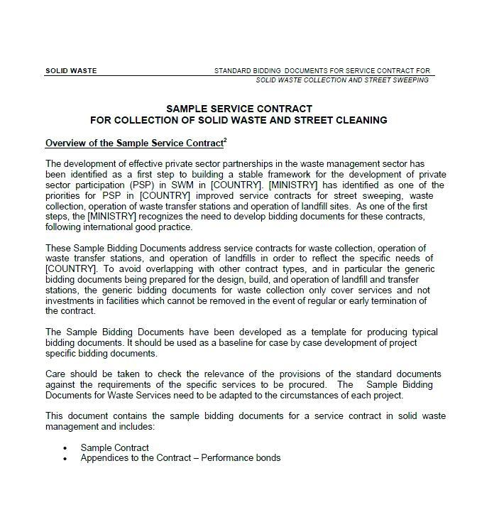 Cleaning Maintenance Agreement Template